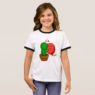 Cactus hugging balloon ringer T-Shirt