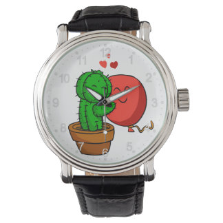Cactus hugging balloon watch