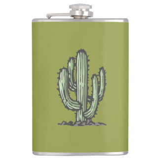 Cactus Illustration Flask