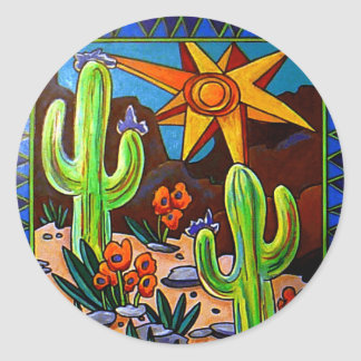 Cactus in the Southwest Classic Round Sticker