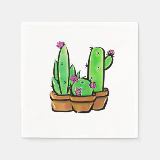 Cactus joy disposable napkin
