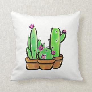 Cactus joy throw pillow