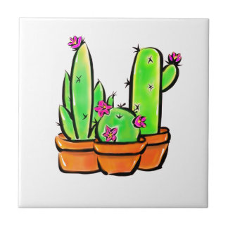 Cactus joy - warm hue tile
