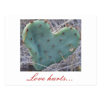 cactus, Love hurts... Postcard