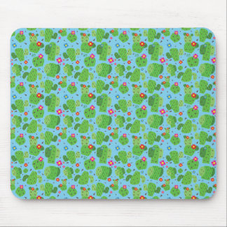 Cactus Me Outside (Blue) - Flat Mousepad
