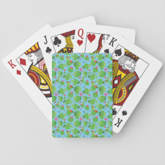Cactus Me Outside (Blue) - Playing Cards
