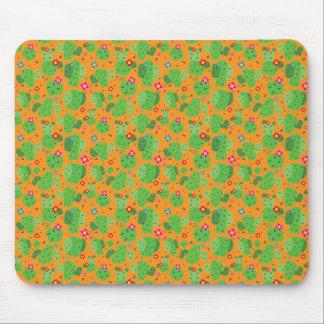 Cactus Me Outside (Orange) - Flat Mousepad