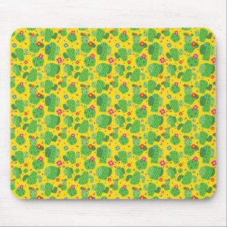 Cactus Me Outside (Yellow) - Flat Mousepad