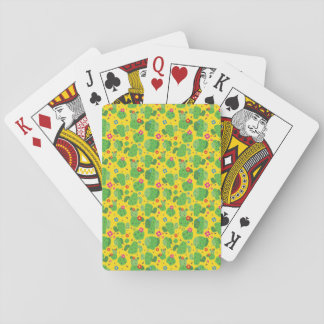 Cactus Me Outside (Yellow) - Playing Cards