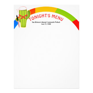Cactus Mexican food catering menu letterhead