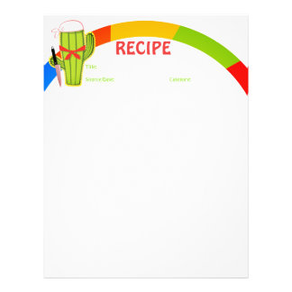 Cactus Mexican food cookbook recipe letterhead