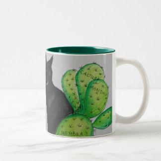 Cactus Monday Two-Tone Coffee Mug