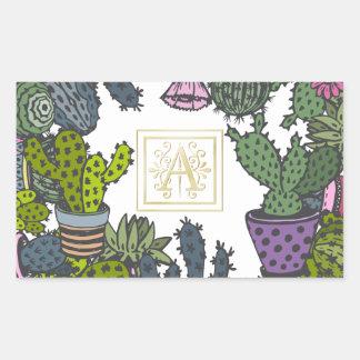 Cactus Monogram A