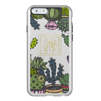 Cactus Monogram A Incipio Feather® Shine iPhone 6 Case