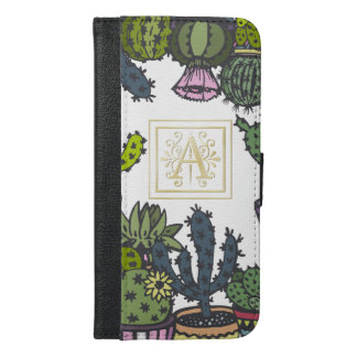Cactus Monogram A iPhone 6/6s Plus Wallet Case