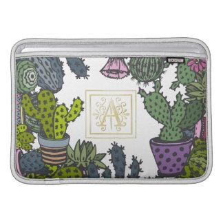 Cactus Monogram A MacBook Air Sleeves