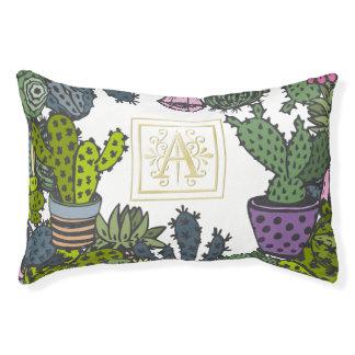 Cactus Monogram A Pet Bed