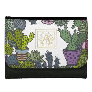 Cactus Monogram A Wallet