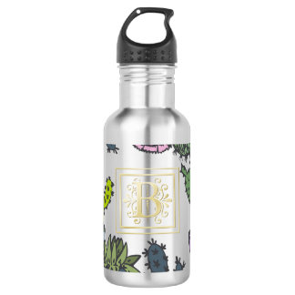 Cactus Monogram B 532 Ml Water Bottle