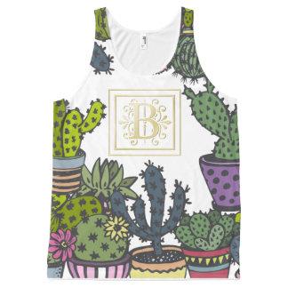 Cactus Monogram B All-Over-Print Tank Top
