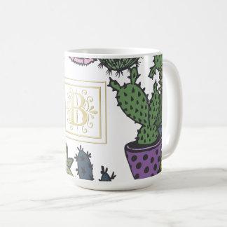 Cactus Monogram B Coffee Mug