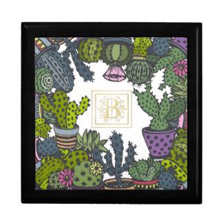 Cactus Monogram B Gift Box