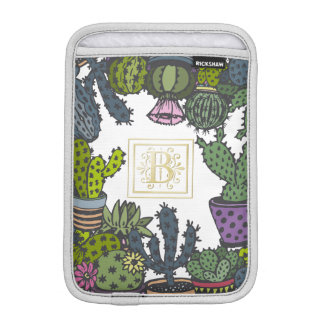 Cactus Monogram B iPad Mini Sleeve