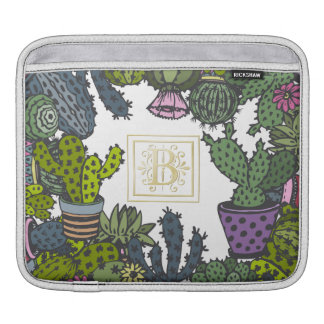 Cactus Monogram B iPad Sleeve