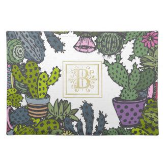 Cactus Monogram B Placemat