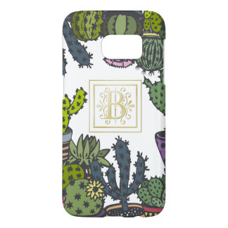 Cactus Monogram B Samsung Galaxy S7 Case
