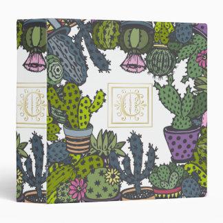 Cactus Monogram C Binder