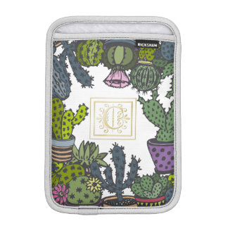 Cactus Monogram C iPad Mini Sleeve