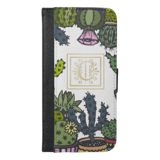 Cactus Monogram C iPhone 6/6s Plus Wallet Case