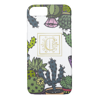 Cactus Monogram C iPhone 8/7 Case