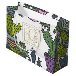 Cactus Monogram C Large Gift Bag