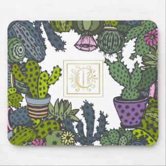 Cactus Monogram C Mouse Pad