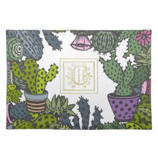 Cactus Monogram C Placemat