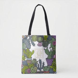 Cactus Monogram C Tote Bag
