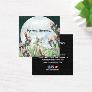 Cactus Night Desert Stars | Social Media Square Business Card