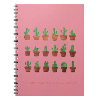 Cactus on Pink Journal Notebook Sketchpad