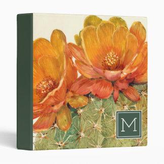 Cactus Orange Blossoms Vinyl Binder