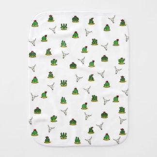Cactus pattern burp cloth