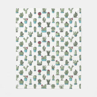 Cactus Pattern Fleece Blanket