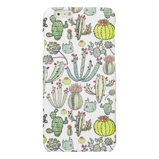 Cactus Pattern Iphone 6/6s Matte Phone Case