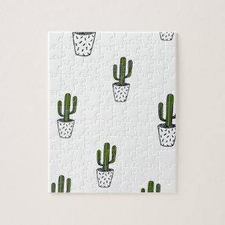 Cactus Pattern Jigsaw Puzzle