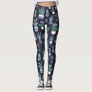 Cactus pattern leggings