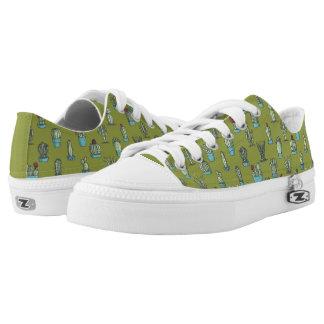 Cactus Pattern Low Top Shoes