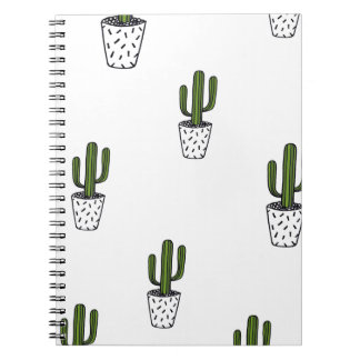 Cactus Pattern Notebook