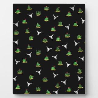 Cactus pattern plaque