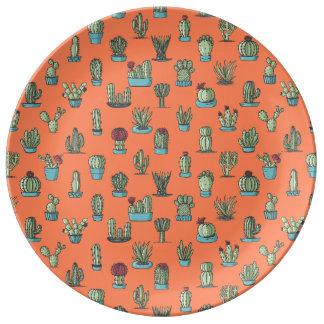 Cactus Pattern Porcelain Plate